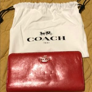 Coach Skinny Wallet-Red